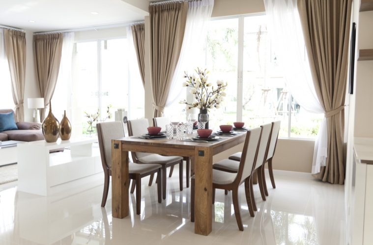An Elegant Dining Room Makeover Starts With Solid Wood Furniture